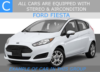 cheap car hire malaga - 5 door car rent malaga airport - ford fiesta - fiat ponto - hyundai i20