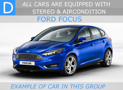 medium sized car malaga - car rental Malaga 5 door hatch back - ford focus - hyundai i30 - opel astra - renault megane